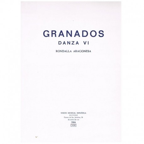 Granados, En Danza Nº6. Rondalla Aragonesa