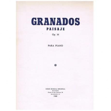 Granados, En Paisaje Op.35