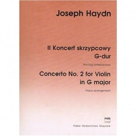 Haydn, Josep Concierto Nº2 Sol Mayor para Violín (Arreglo para Piano)