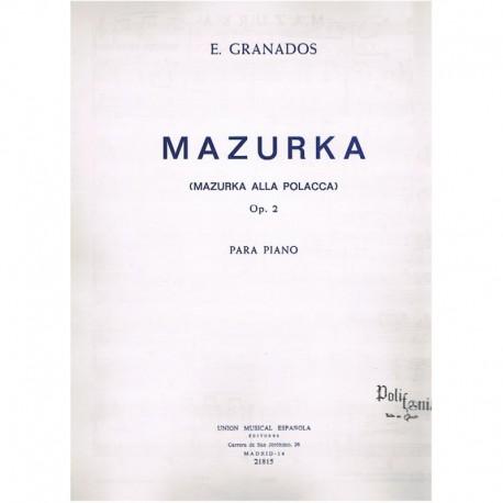 Granados, En Mazurka Op.2