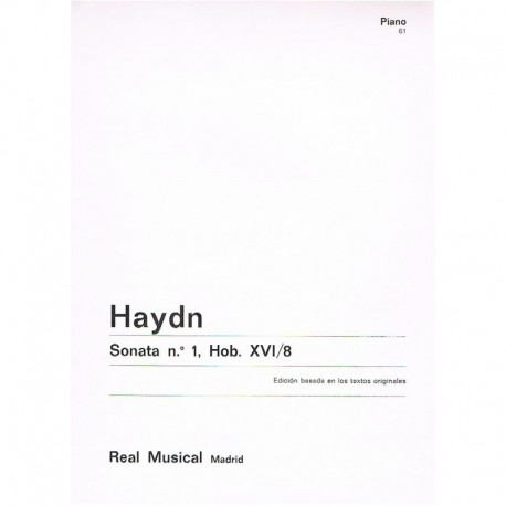 Haydn, Josep Sonata Nº1 HOB.XVI/8