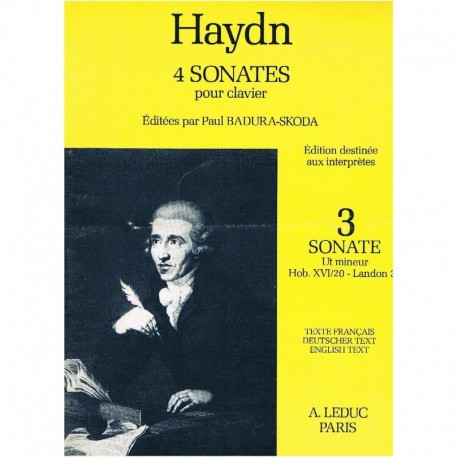 Haydn, Josep Sonata en Do menor HOB.XVI/20