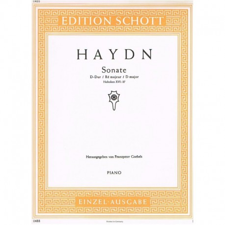 Haydn, Josep Sonata en Re Mayor HOB.XVI/37