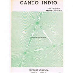Lecuona, Ern Canto Indio