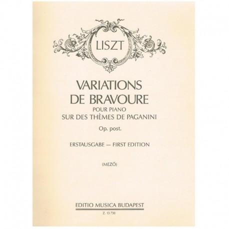 Liszt, Franz Variaciones de Bravura Sobre un Tema de Paganini