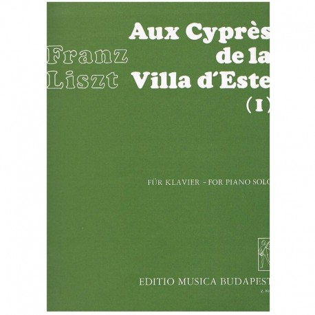 Liszt, Franz Los Cipreses de la Villa del Este Vol.1