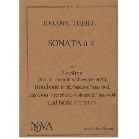 Theile. Sonata a 4 (2 Violines, Trombon, Fagot y Piano)