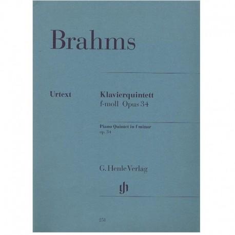 Brahms, Joha Quinteto en Fa menor Op.34 (Piano, 2 Violines, Viola, Cello)