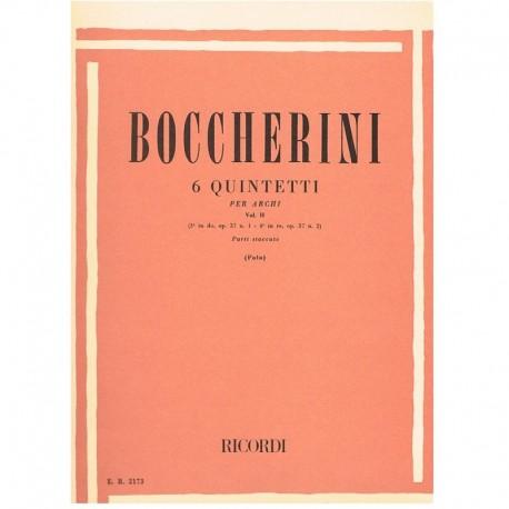 Boccherini. 6 Quintetos Vol.2 (Op.37 Nº1/Op.37 Nº2) (2 Violines, 2 Violas, C