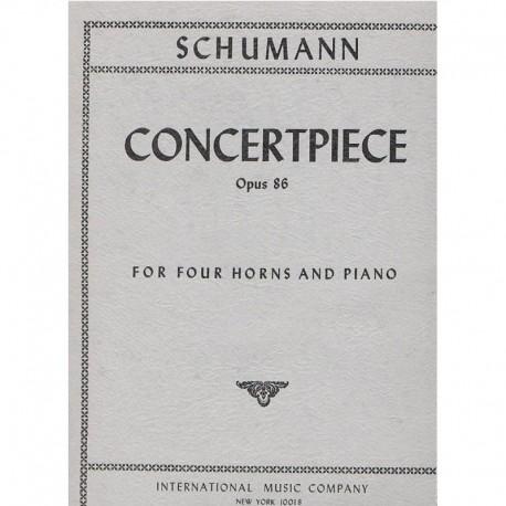 Schumann Pieza de Concierto Op.86 (4 Trompas y Piano)