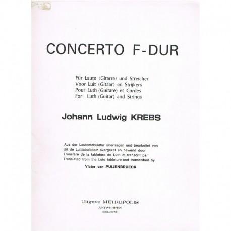 Krebs, Johan Concierto en Fa Mayor (Guitarra y Cuarteto de Cuerda)