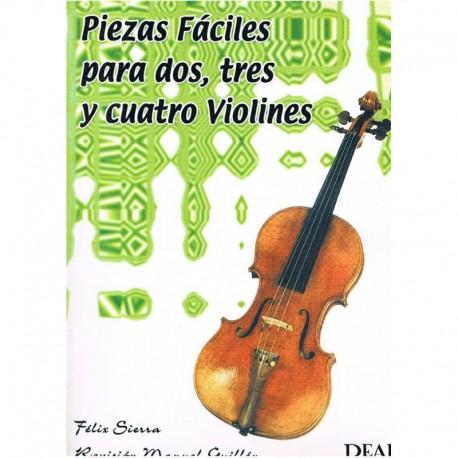 Sierra. Piezas Fáciles para 2, 3 y 4 Violines. Real Musical