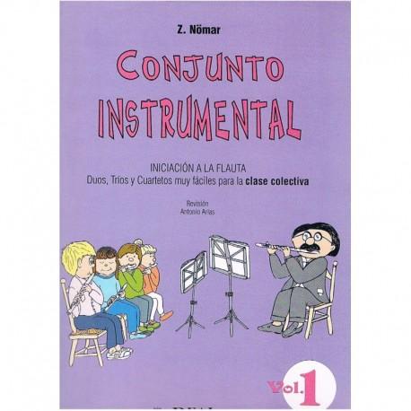 Nomar. Conjunto Instrumental. Iniciación a la Flauta Vol.1 (Dúos, Tríos y Cuartetos). Real Musical