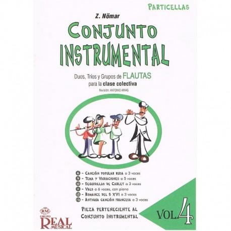 Nomar. Conjunto Instrumental. Dúos, Tríos y Grupos de Flautas Vol.4 Particellas. Real Musical