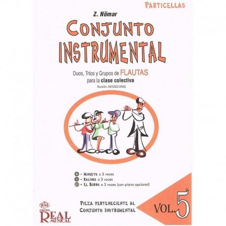Nomar. Conjunto Instrumental. Dúos, Tríos y Grupos de Flautas Vol.5 Particellas. Real Musical