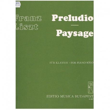 Liszt, Franz Preludio/Paisaje
