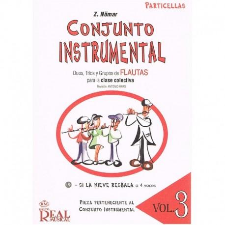 Nomar. Conjunto Instrumental. Dúos, Tríos y Grupos de Flautas Vol.3 Particellas. Real Musical