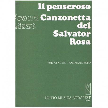 Liszt, Franz IL Penseroso/Canzonetta del Salvator Rosa