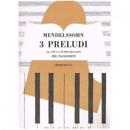 Mendelssohn 3 Preludios Op.104