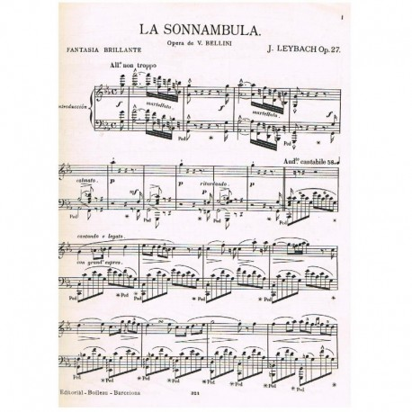 Leybach Sonámbula. Fantasia Brillante Op.27