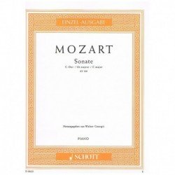 Mozart. Sonata Do Mayor KV.309