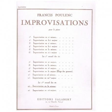 Poulenc, Fra Improvisacion Nº13 La menor