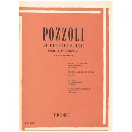 Pozzoli 24 Pequeños Estudios Fáciles y Progresivos