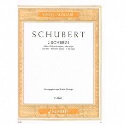 Schubert, Fr 2 Scherzos...