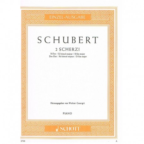 Schubert, Fr 2 Scherzos (Sib Mayor/Reb Mayor)