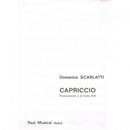 Scarlatti, D Capriccio
