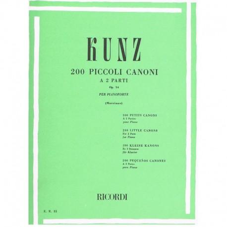 Kunz 200 Pequeños Canones Op.14 a 2 Partes