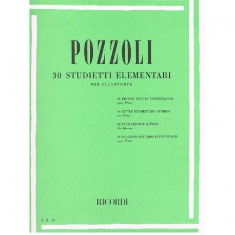 Pozzoli 30 Pequeños Estudios Elementales