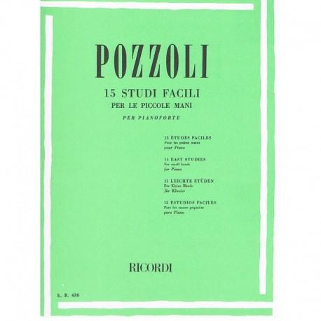 Pozzoli 15 Estudios Fáciles para Manos Pequeñas