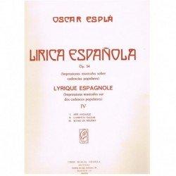 Esplá, Oscar Lírica...