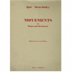 Stravinsky. Movements (2 Pianos)