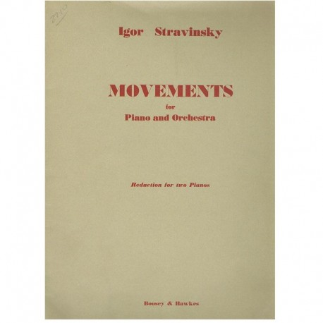 Stravinsky. Movements (2 Pianos)