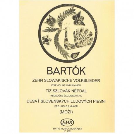 Bartok, Bela. 10 Canciones Populares Eslovacas (Violín)