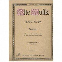 Benda, Franz. Sonata para...