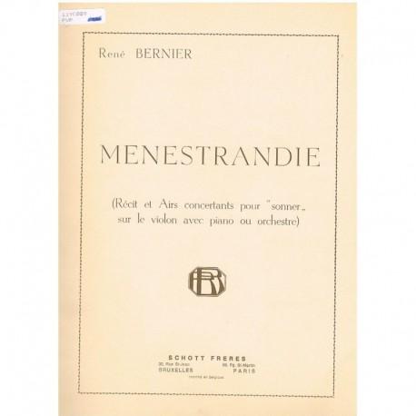 Bernier, Ren Menestrandie (Violin/Piano)