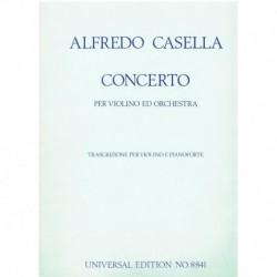 Casella, Alf Concierto La menor (Violin y Piano)
