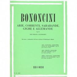 Bononcini. Arie, Correnti, Sarabande, Giche e Allemande Op.4 (Violin y Pian