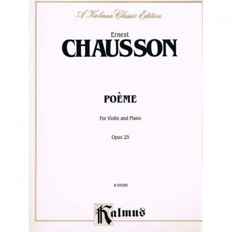 Chausson, Er Poema Op.25 (Violin y Piano)