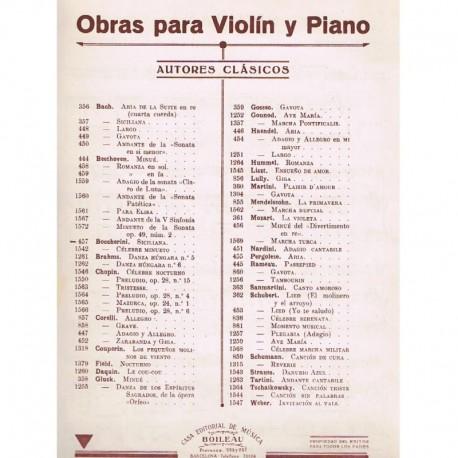 Boccherini. Siciliana (Violin y Piano)