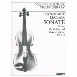 Leclair, Jea Sonata Re Mayor Op.9 Nº3 (Violin y Piano)