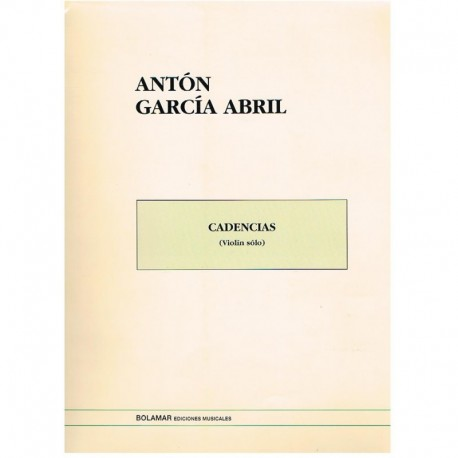 García Abril. Cadencias (Violin Solo)
