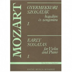 Mozart. Early Sonatas Vol.1 (Rev. Kovacs/Szelenyi) (Violin y Piano)