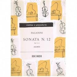 Paganini. Sonata Nº12 Op.3 Nº6 (Violin y Piano)