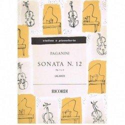 Paganini, Ni Sonata Nº12 Op.3 Nº6 (Violin y Piano)