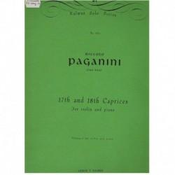 Paganini. Caprichos Nº17 y Nº18 (Violin y Piano)