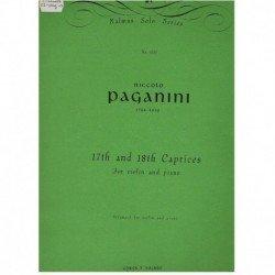 Paganini, Ni Caprichos Nº17 y Nº18 (Violin y Piano)